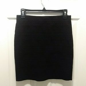 Loft knit short skirt